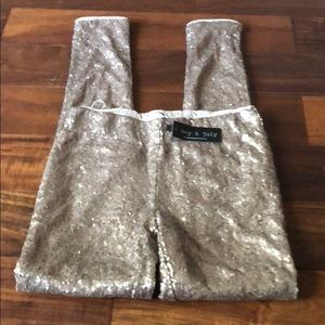 NWT May & July sequined Leggins small